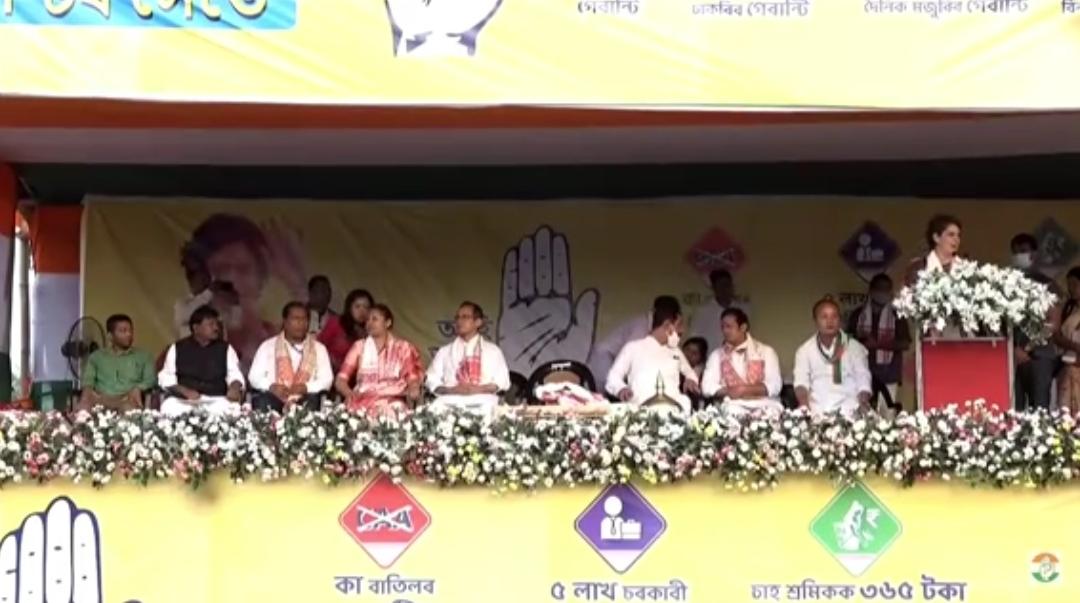 Photo of असम चुनाव: भाजपा पर प्रियंका का जोरदार हमला, दी ये बड़ी सौगात