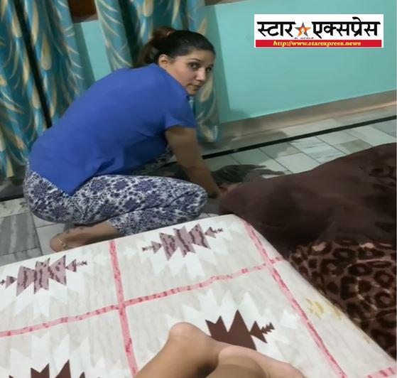 Photo of देशी अंदाज में नजर आई सपना चौधरी टीवी पर अपना गाना चलाकर लगाया पोछा