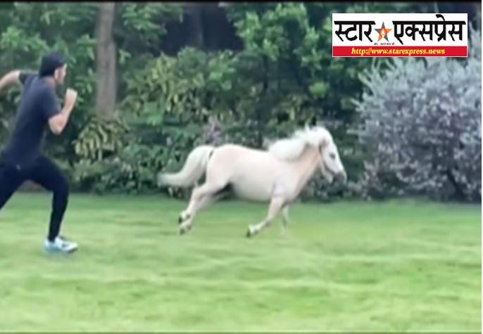 Photo of अपने घोड़े संग धोनी ने लगाई दौड़, पत्नी साक्षी ने शेयर किया वीडियो