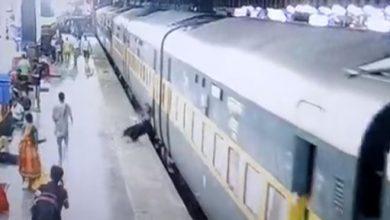 Photo of लखनऊः चलती ट्रेन से उतरते समय मां-बेटा ट्रैक पर गिरे, आरपीएफ जवान ने ऐसे बचाई….
