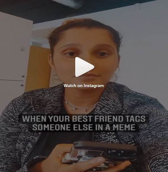 Photo of सानिया मिर्जा ने क्यूट से अंदाज में बताया, जब आपका बेस्ट फ्रेंड मीम में किसी और को टैग करें तो, कैसे करें रिएक्ट