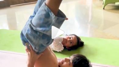 Photo of शिल्पा शेट्टी की बेटी का 'योग करने वाला बेहद प्यारा वीडियो हुआ वायरल