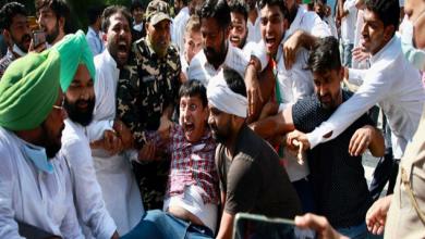 Photo of अमित शाह के आवास के पास किया प्रदर्शन, अजय मिश्रा के इस्तीफे की कर रहें मांग