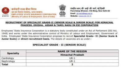 Photo of इन पदों पर निकली सरकारी नौकरी, अधिक जानकारी के लिए दिए गए वेबसाइड पर कर सकते है चेक
